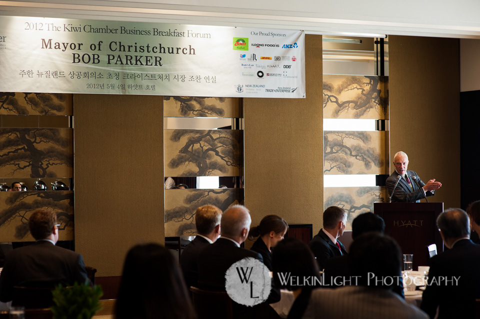 Mayor of Christchurch Bob Parker Korea Event Photography