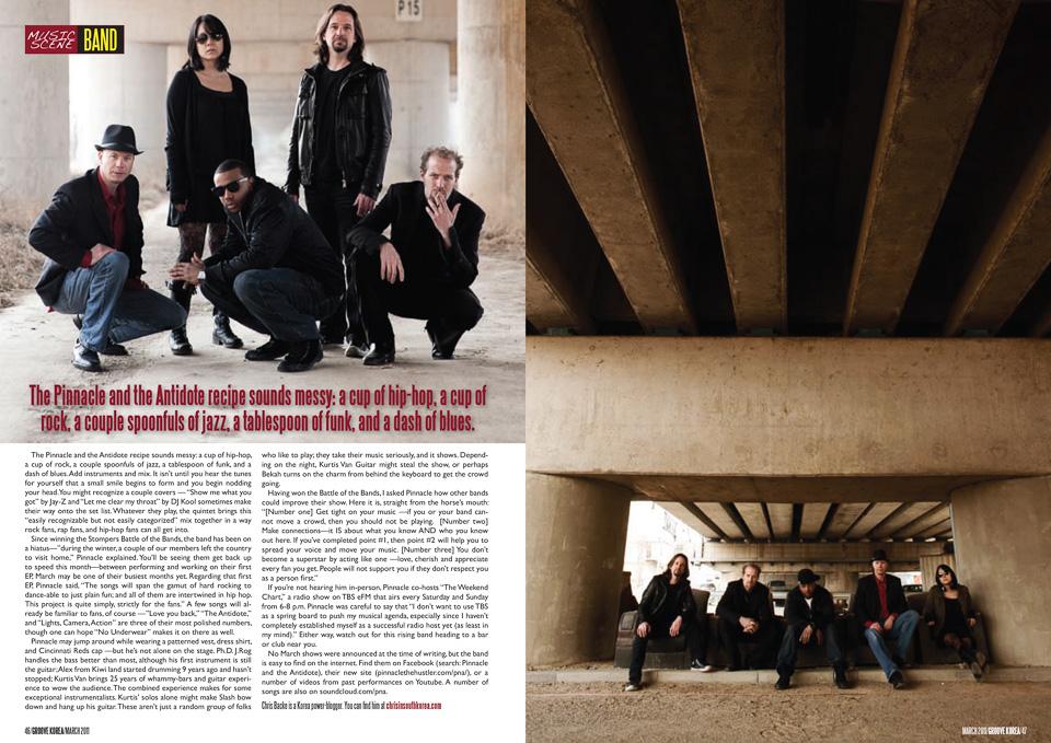 Groove Magazine Korea - Pinnacle and the Antidote
