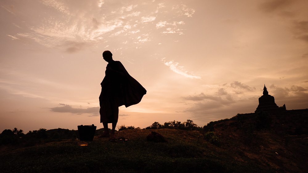 Monk - Mrauk U Travel Photographer