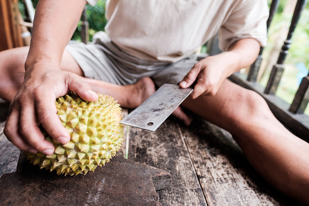 Cutting a Durian - Editorial Photographer