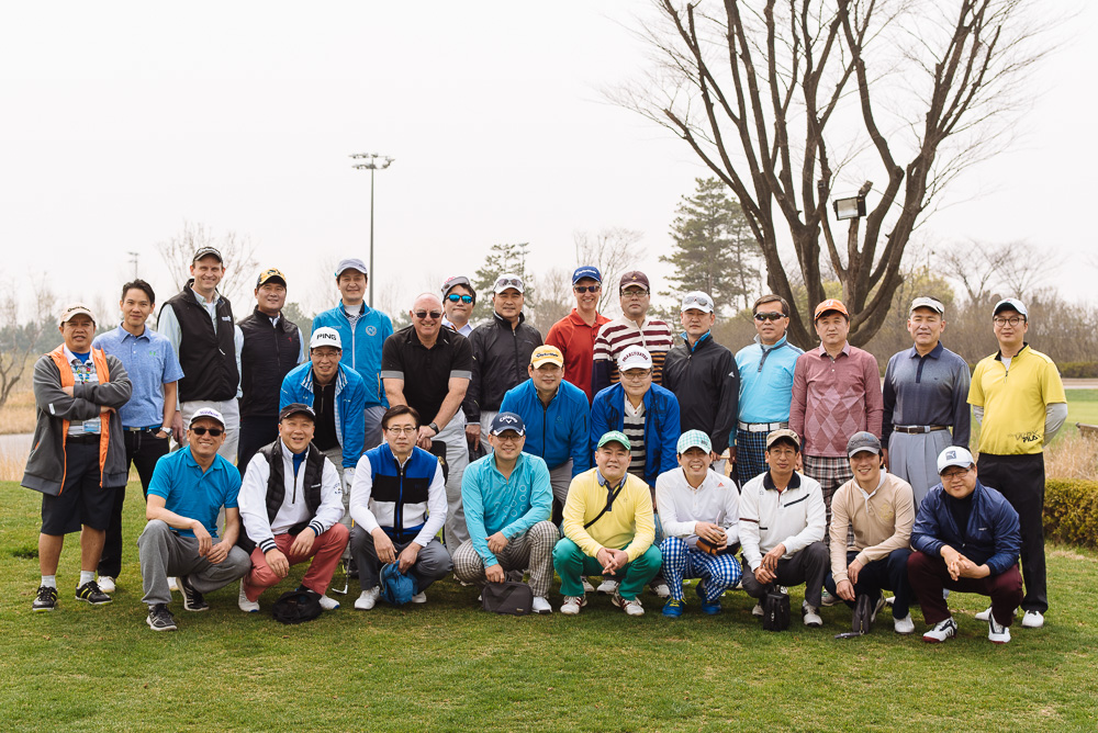 Korea Event Photographer - Zebra Technologies Golf Group Shot