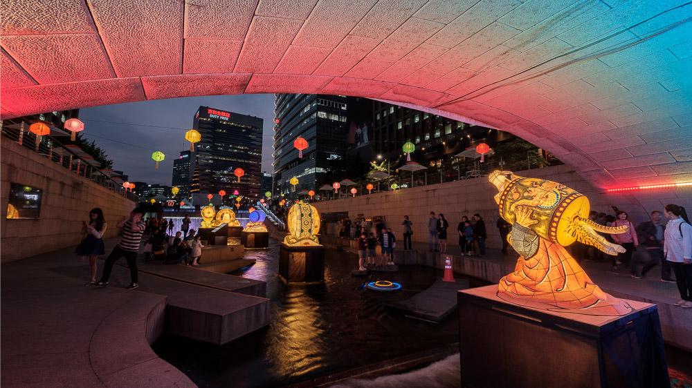 Cheonggyeocheon Lantern Festival - Seoul Editorial Photographer