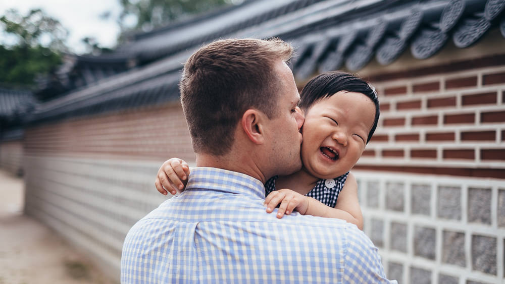 Seoul Korea Family Photographer Gyeongbokgung Father and Son
