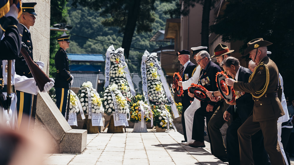Event Photographer Korea - Wreath Laying