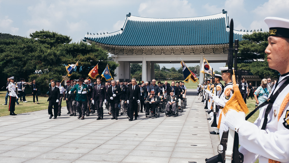 Event Photographer Korea - Veterans March at Seoul National Cemetery