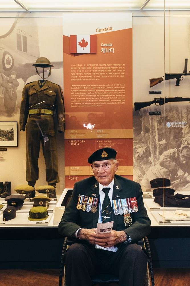 Event Photographer Korea - War Memorial Wall Canadian Veteran