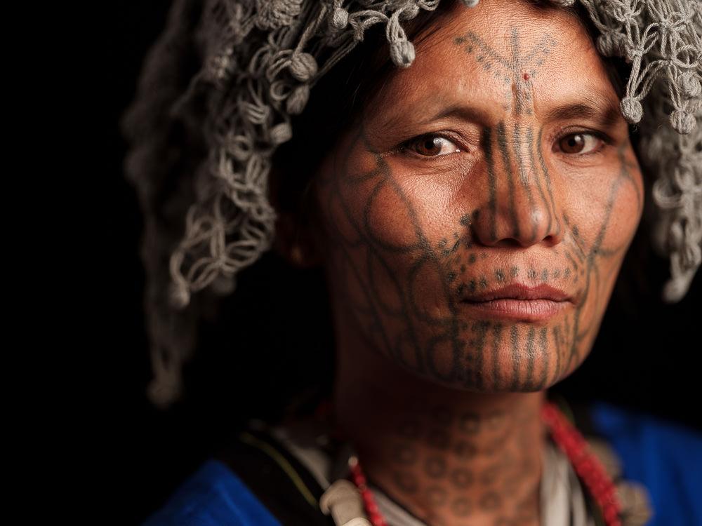 Facial Tattoo - Mun Myanmar