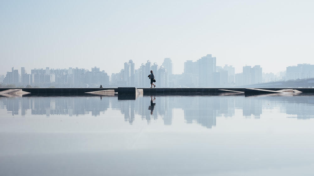 Seoul Pollution - Yeouido Han River Park