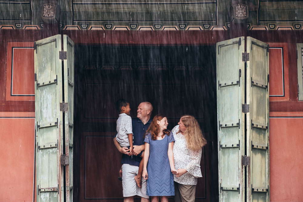 Seoul Family Photographer Rainy Day