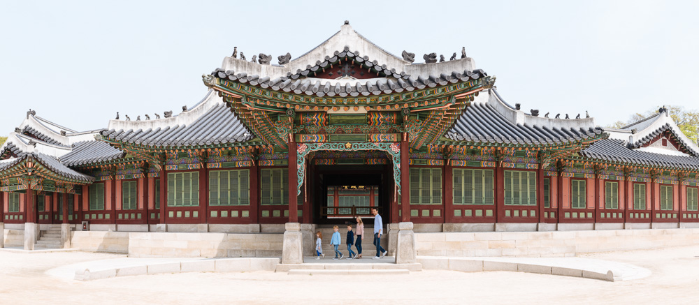 Changdeokgung with the Elbracht Family