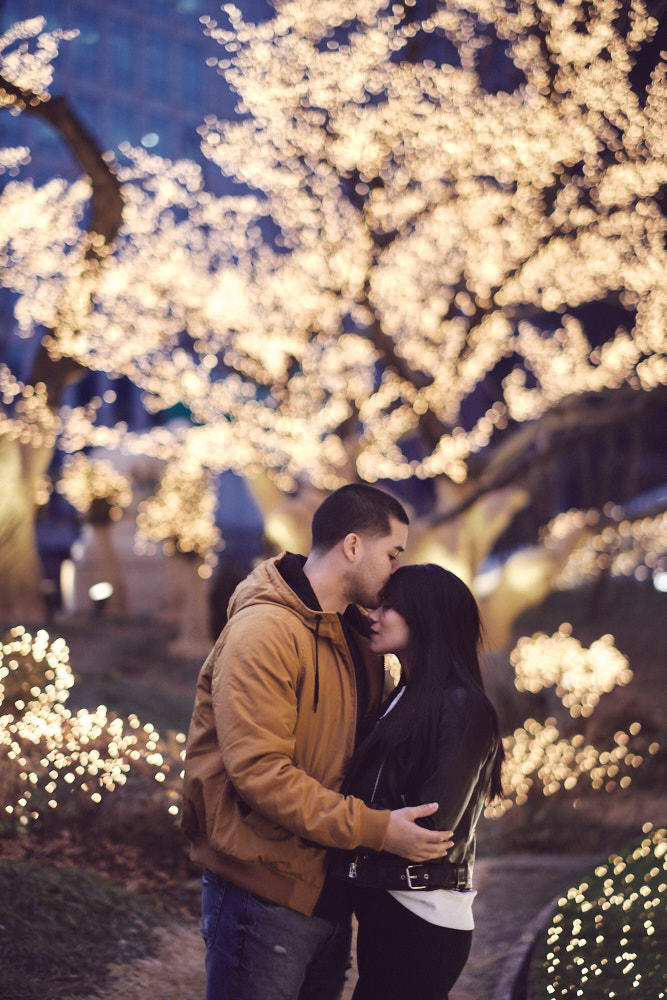 Couple Session under the Christmas lights