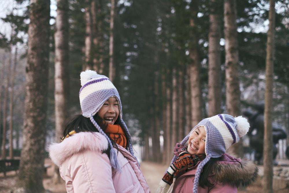 The Kids Having Fun Despite the Cold